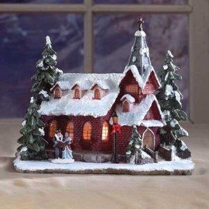 Christmas Holiday Church Aglow Village