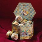 Christmas Angel Ornaments With Decorator Box Set Of 12