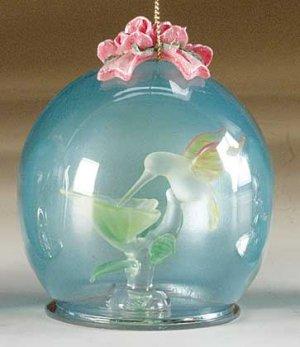 Crystal Hummingbird Ball Glass