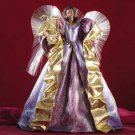 Fiber Optic Angel Christmas Tree Topper Purple
