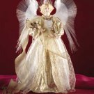 Fiber Optic Angel Christmas Tree Topper Gold