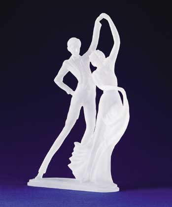 Frosted Ballroom Dancing Couple Figurine