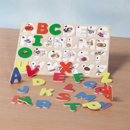 Alphabet Jigsaw Puzzle Wood Picture Board