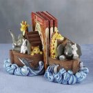 Noah's Ark Bookends Painted Set