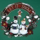 Let It Snow Snowmen Wreath Christmas