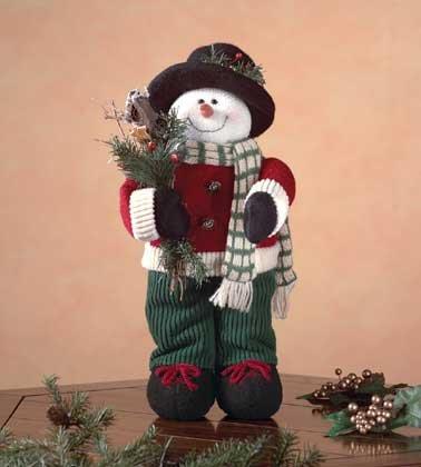 Posable Fabric Snowman