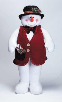 Plush Stand Up Christmas Snowman