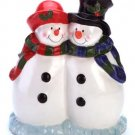 Snowman Cookie Jar Ceramic