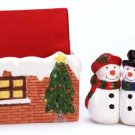 Snowman Set For Your Table Napkin Holder Salt Pepper Shakers