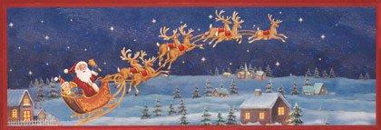 Santa Sleigh Framed Wall Art