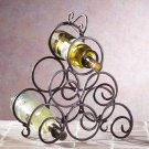 Wrought Iron Scrollwork Wine Rack