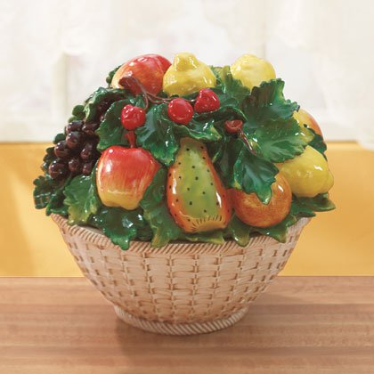 Mixed Fruit In A Bowl Antique Finish