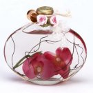 Orchid Glass Oil Lamp