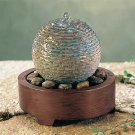 Ball Desktop Fountain Sound Activated With Decorative Pebbles