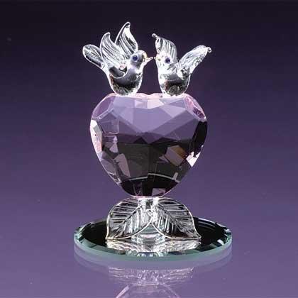 Crystal Love Bird Heart