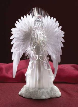 Fiber Optic Praying Angel