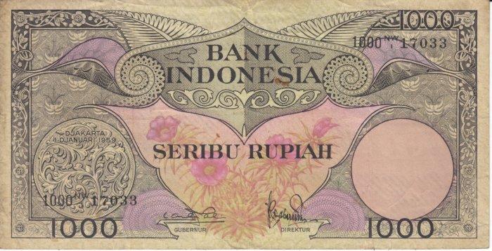 1000 rupiah indonesian old money