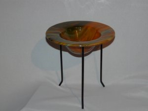 Nature Earth Glass Vessel and Stand