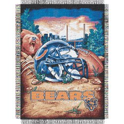 Chicago Bears Woven Tapestry NFL Throw by Northwest  MSRP $40.00