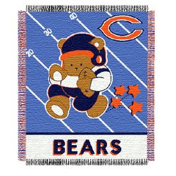 Chicago Bears Triple Woven Jacquard NFL Baby Throw by Northwest   MSRP $25.00