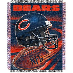 Chicago Bears Triple Woven Jacquard NFL Throw by Northwest  MSRP $40.00