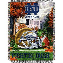 Notre Dame Irish Woven Tapestry NCAA Throw Home by Northwest  MSRP $40.00