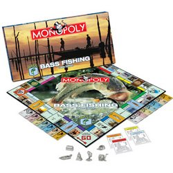 Bass Fishing Lakes Edition Monopoly  MSRP $36.00