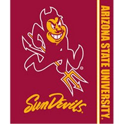 Arizona State Sun Devils Royal Plush Raschel NCAA Blanket by Northwest   MSRP $40.00