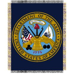 US Army Military  Acrylic Triple Woven Jacquard Throw by Northwest  MSRP $45.00