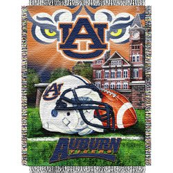 Auburn Tigers Woven Tapestry NCAA Throw by Northwest   MSRP $40.00