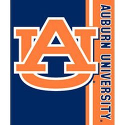 Auburn Tigers Royal Plush Raschel NCAA Blanket by Northwest   MSRP $40.00