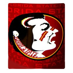 Florida State Seminoles Fleece NCAA Blanket by Northwest   MSRP $20.00