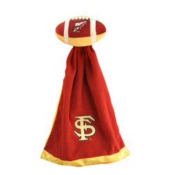 Florida State Seminoles Plush NCAA Football w/Attached Security Blanket by Coed  MSRP $20.00