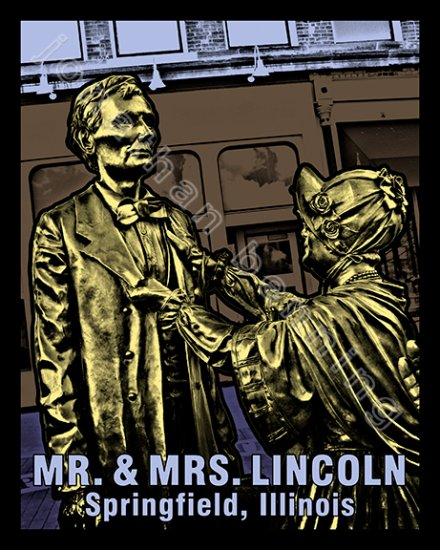 Mr. & Mrs. Lincoln in Springfield, Illinois