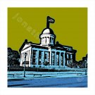 """16""""x16"""" White Border - Old State Capitol in Springfield, Illinois"""