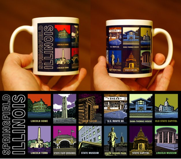Springfield, Illinois 11 oz. Coffee Mug