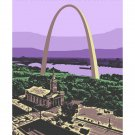 "11""x14"" - Gateway Arch and the Old Cathedral in St. Louis"