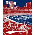 """16""""x20"""" - Busch Stadium in St. Louis"""