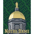 "16"" x 20"" - Notre Dame Dome with Green Background"
