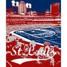"""11""""x14"""" - Busch Stadium in St. Louis"""