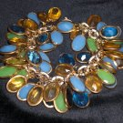vintage lucite charms bracelet one of a kind hand made