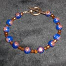 Crystal and enamel handcrafted bracelet one of a kind
