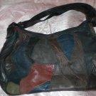 vintage multi color patchwork purse