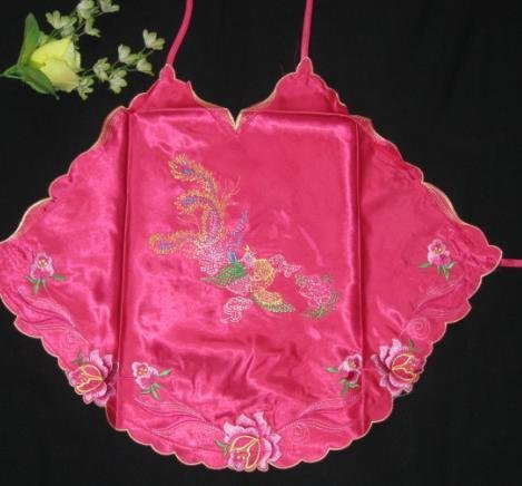 Chinese Embroidery DuDOU Halter Top, Satin feel