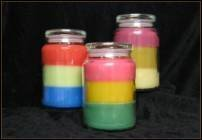 Triple scented triple layered candle. (ON SALE)