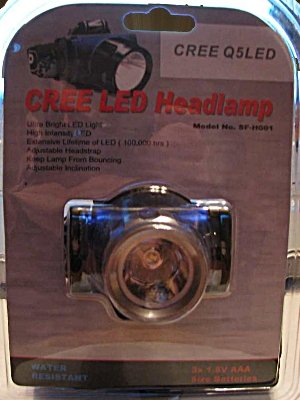 Cree Q5 LED Headlamp Brightest Available Water Resistant LED Headlight Industrial Quality