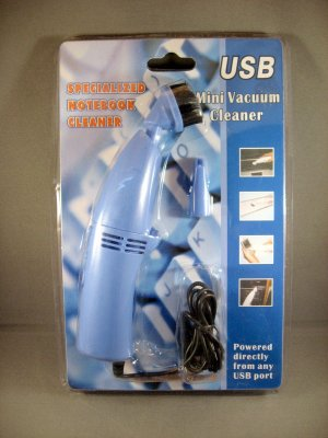 USB Powered Mini Turbo Vacuum Cleaner With LED Light Powerful Laptop & PC Preventative Maintenance