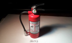 Fire Extinguisher Shaped Butane Lighter With Bright LED Light
