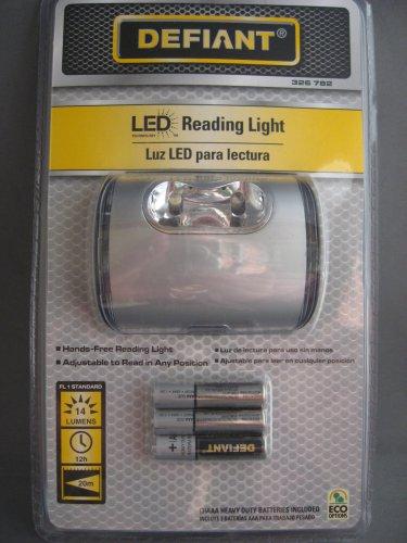 Defiant LED Reading Light Includes Batteries