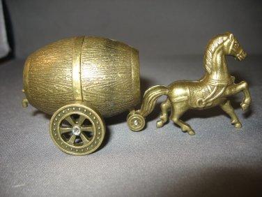 Galloping Horse Pulling Vintage Wine Barrel Butane Lighter For Horse Lovers